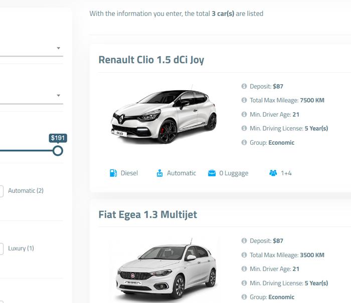 Car List Page